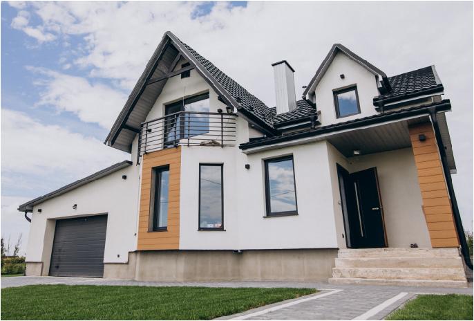 Aqui podemos ver una casa regularizada